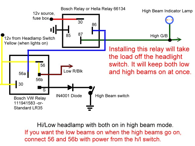 high_low_relay untitled sealed beam headlight wiring diagram at bayanpartner.co