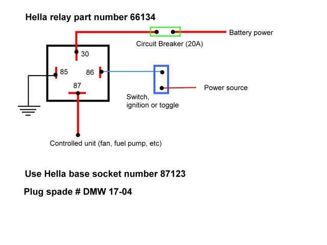 relay_wiring hella plug wiring diagram diagram wiring diagrams for diy car 4 prong relay wiring diagram at cita.asia